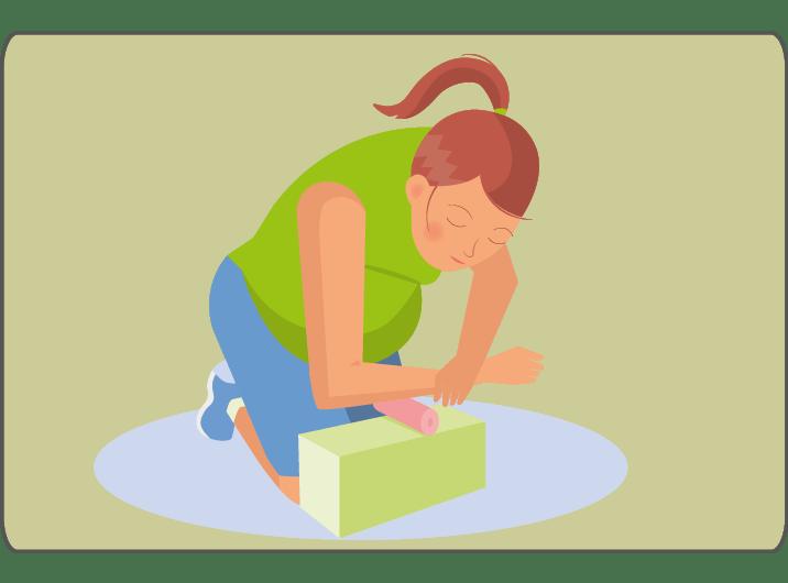 Schwangere Karpaltunnel-Syndrom Faszienmassage