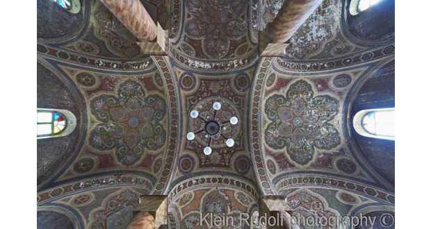A huszti zsinagóga boltozata (Fotó: www.synagogues.hu)