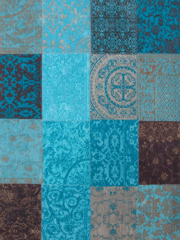 Louis de Poortere Vintage Kelim Tapijt 8105 Turquoise