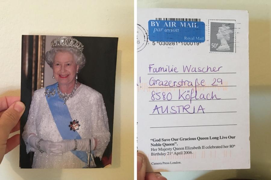 Postkarte von Andrea Mark aus England