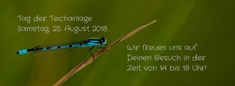 Einladung zum Tag der Teichanlage 25.08.2018