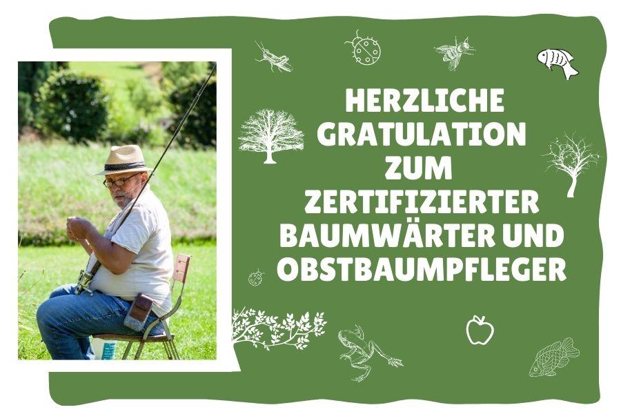 Herzlichen Glückwunsch-   Zertizierter  Baumwärter und Obstbaumpfleger