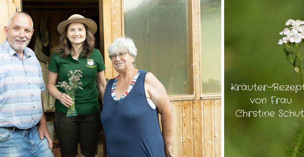 Kräuter-Rezepte von Frau Chrstine Schutti mit Luis und Hannerl Wascher bei der Teichanlage Wascher