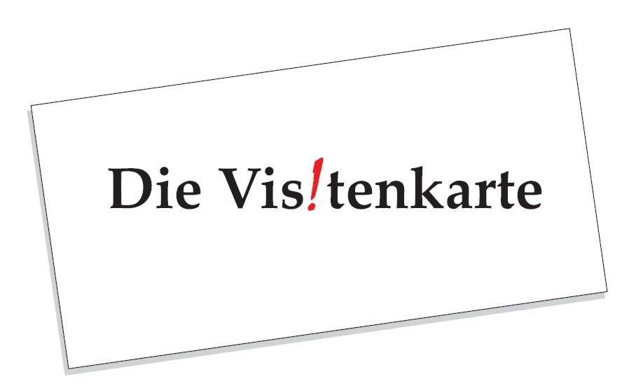 Visitenkarte Reiche Mir Deine Karte Und Ich Sage Dir Wer