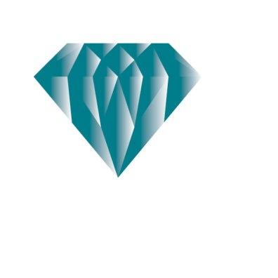 Illustration blå diamant