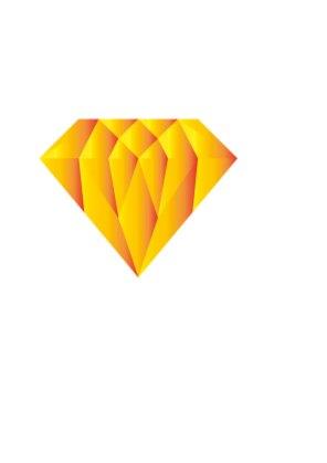 Illustration gul diamant