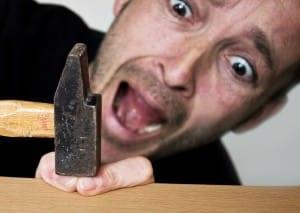 accident, injury, fingers, hammer, Sensory Integration Disorder