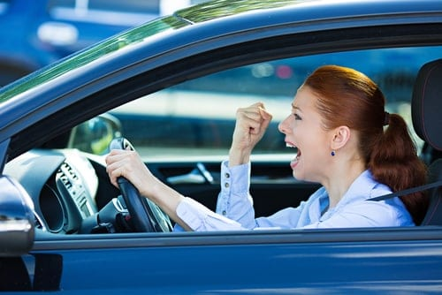 Angry woman driver3