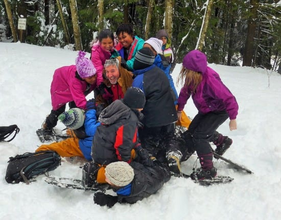 Seattle ICO kids learn the sheer joy of playing in the snow (courtesy)
