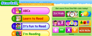 Starfall website screenshot