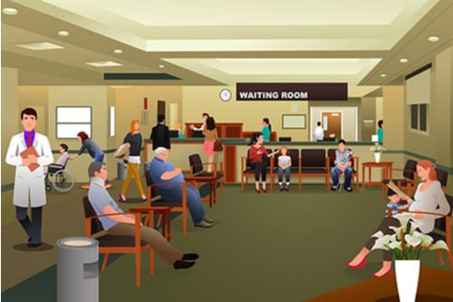ER waiting room animation
