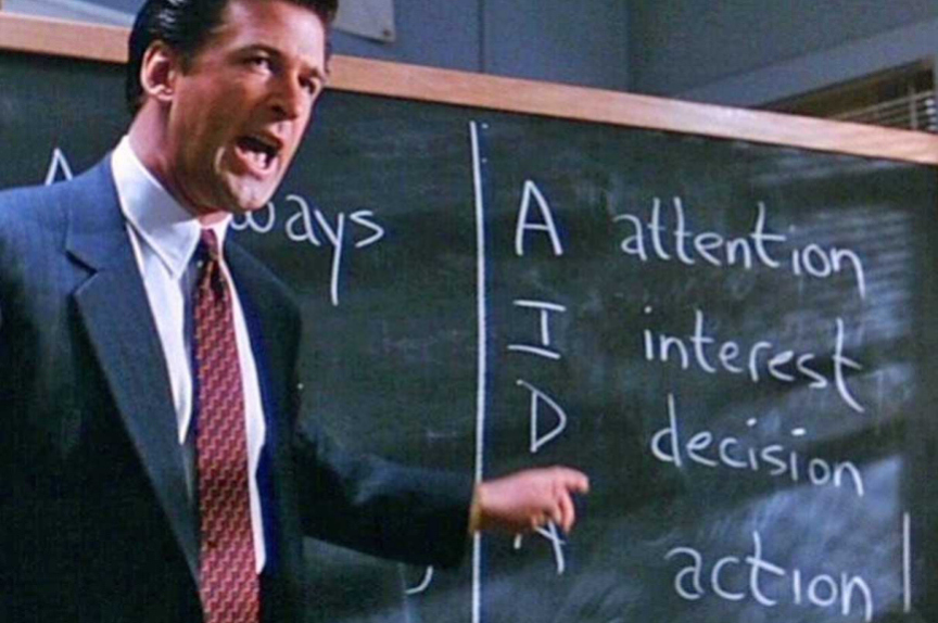 To the great relief of my staff, my meetings discussing sales performance don't quite live up to Alec Baldwin's standard.