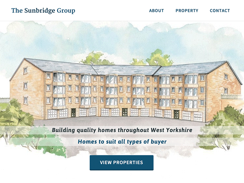 Screenshot of The Sunbridge Group home page design.