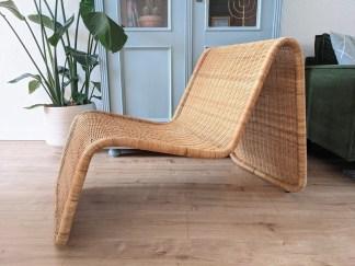 Vintage IKEA Rotan Lounge stoel