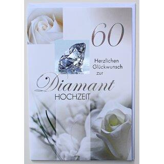 Glckwunschkarte Diamanthochzeit 60 Hochzeitstag