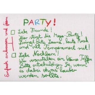 Postkarte Lustige Party Einladung