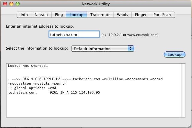 Network Utility Lookup