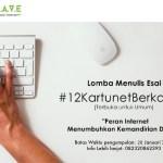 Lomba Menulis Esai #12KartunetBerkarya Berhadiah Smartphone
