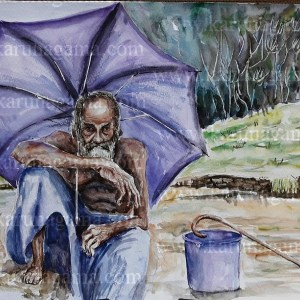 Online, Art, Art Gallery, Online Art Galley, Sri Lanka, Karunagama, Watercolor, Water Colour, People, Beggar, Umbrella, Buddhist, Online, Art, Art Gallery, Online Art Galley, Sri Lanka, Karunagama, Watercolor, Water Colour, Beggars, Beggars paintings, Sri lanka Beggars, Sri lanka paintings,