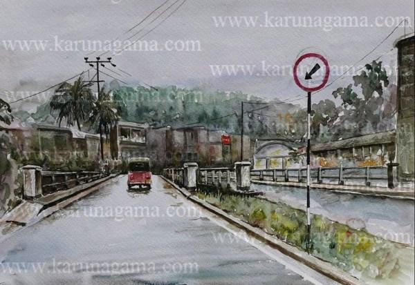 Online, Art, Art Gallery, Online Art Galley, Sri Lanka, Karunagama, Watercolor, Water Colour, Gampola, Gampola paintings, Bridge, Bridge paintings, Sri lanka paintings,