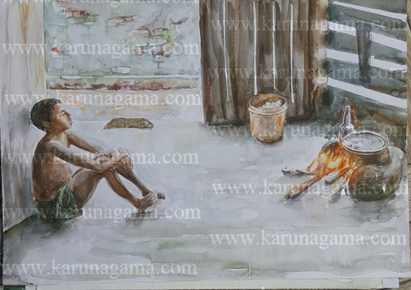 Water Colors, Paintings, Sri Lanka, Online Arts, Art Gallery, Sarath Karunagama, Online Art Gallery, Portrait, Landscape, People, Fire, Meal, Boy, Online, Art, Art Gallery, Online Art Galley, Sri Lanka, Karunagama, Watercolor, Water Colour, Sri lankan Boys, Boys, Boys Paintings, People, Firewood Hearth, Sri lanka paintings,