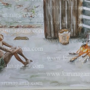 Water Colors, Paintings, Sri Lanka, Online Arts, Art Gallery, Sarath Karunagama, Online Art Gallery, Portrait, Landscape, People, Fire, Meal, Boy, Online, Art, Art Gallery, Online Art Galley, Sri Lanka, Karunagama, Watercolor, Water Colour, Sri lankan Boys, Boys, Boys Paintings, People, Firewood Hearth, Sri lanka paintings,