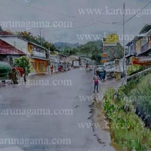 Online, Art, Art Gallery, Online Art Galley, Sri Lanka, Karunagama, Watercolor, Water Colour, Street View, Streets in Sri lanka, Sri lanka paintings,