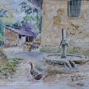 Online, Art, Art Gallery, Online Art Galley, Sri Lanka, Karunagama, Watercolor, Water Colour, Sri lanka Pump wells, Pump wells paintings, Wells, Water Colors, Paintings, Sri Lanka, Online Arts, Art Gallery, Sarath Karunagama, Online Art Gallery, Portrait, Well, Pump well,, Sri lanka paintings,