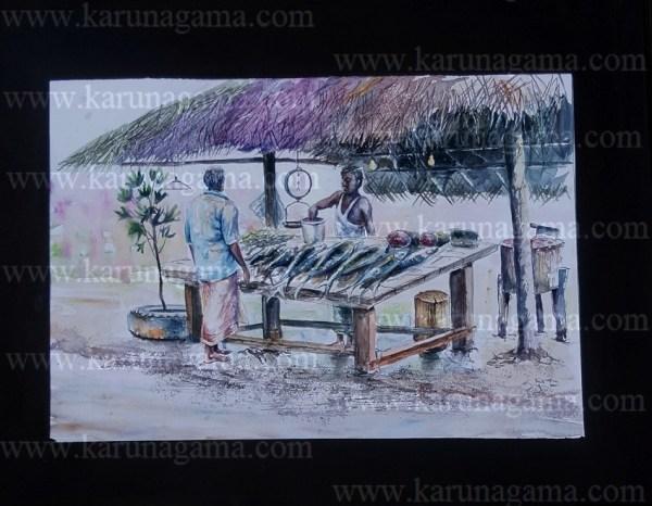 Online, Art, Art Gallery, Online Art Galley, Sri Lanka, Karunagama, Watercolor, Water Colour, Sri Lanka Fish, Fish sellers, Sri lanka fish stalls, Fish stall paintings, Water Colors, Paintings, Sri Lanka, Online Arts, Art Gallery, Sarath Karunagama, Online Art Gallery, Water Colors, Paintings, Sri Lanka, Online Arts, Art Gallery, Sarath Karunagama, Online Art Gallery, Portrait, Landscape, Fish, Fishing,, Sri lanka paintings,