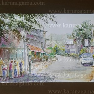 Online, Art, Art Gallery, Online Art Galley, Sri Lanka, Karunagama, Watercolor, Water Colour, Kandy, Watercolor of Kandy, Sri lanka paintings,