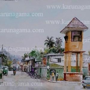 Online, Art, Art Gallery, Online Art Galley, Sri Lanka, Karunagama, Watercolor, Water Colour, Palapathwela, A-9 road, Townscape, Landscape, Sri lanka paintings,