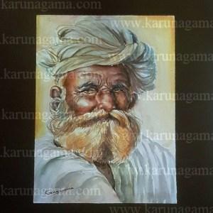 Online, Art, Art Gallery, Online Art Galley, Sri Lanka, Karunagama, Watercolor, Water Colour, People, Sri lanka Old People, Sri lankan Portraits. Sri lanka watercolor paintings, Indian old man paintings, Old man paintings, Sri lanka paintings,