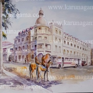 Online, Art, Art Gallery, Online Art Galley, Sri Lanka, Karunagama, Watercolor, Water Colour, Sri lanka Police, Sri lanka Horses, Kandy, Kandy lake, Kandy paintings,