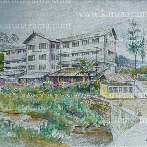 Online, Art, Art Gallery, Online Art Galley, Sri Lanka, Karunagama, Watercolor, Water Colour, Tea estates, Tea factories, Sri lankan Tea industry, Sri lankan tea factory paintings, Sri lankan hill country.