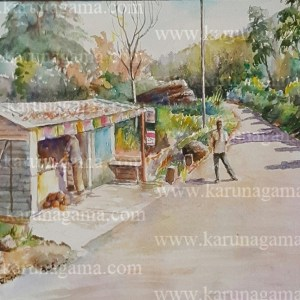 Art, Art Gallery, Paintings, Karunagama, Landscapes, Houses paintings, Sri lanka villages, People in Sri lanka,