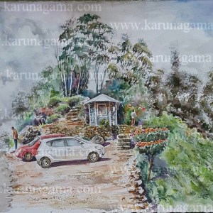 Online, Art, Art Gallery, Online Art Galley, Sri Lanka, Karunagama, Watercolor, Water Colour, Tea industry, Sri lankan tea, Landscape, Srilanka landscape, Landscape paintings, Lipton seat, Haputale, Haputhale paintings,