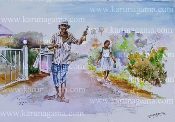 Online, Art, Art Gallery, Online Art Galley, Sri Lanka, Karunagama, Watercolor, Water Colour, Bumbai muttai, Bombay muttai, Simple sweeet, Candy floss, Spun sugar,