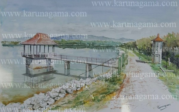 Online, Art, Art Gallery, Online Art Galley, Sri Lanka, Karunagama, Watercolor, Water Color, Sri lanakna lakes, Lake bunt, landscape paintings,