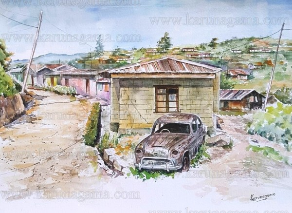 Art, Art Gallery, Austin Cambridge, Classic car Paintings, Classic cars, Karunagama, Meepilimana, Nuwaraeliya, Nuwaraeliya paintings., Online, Online Art Galley, Plantaions, Sri Lanka, Water Colour, Watercolor