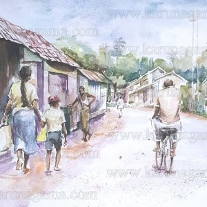 Art, Art Gallery, Karunagama, Landscape Ulapane, Online, Online Art Galley, Sri Lanka, Street, Ulapane, Water Colour, Watercolor