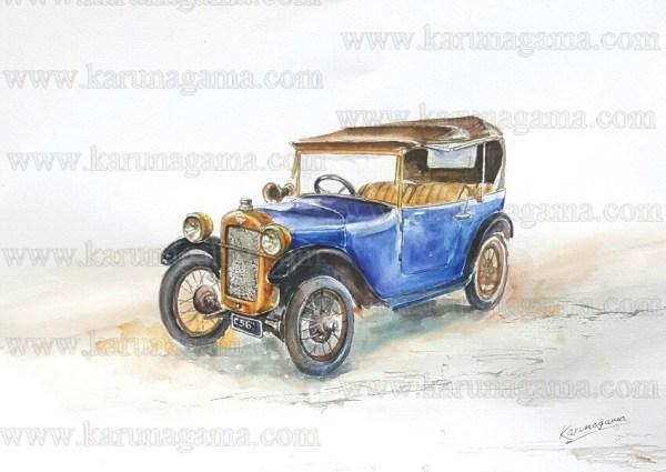 Online, Art, Art Gallery, Online Art Galley, Sri Lanka, Karunagama, Watercolor, Water Colour, Aston Martin, Vintage cars,, Dambulla ,