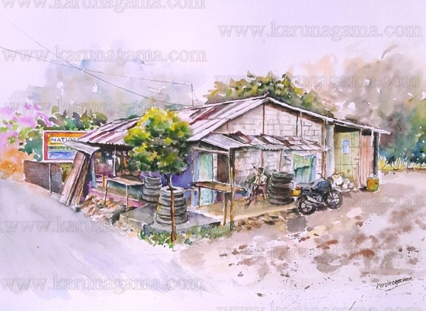 Art, Art Gallery, Karunagama, Landscapes, Landscapes in Sri lanka, Online, Online Art Galley, Shaggy store, Shops, Tire shops, Sri Lanka, Water Colour, Watercolor