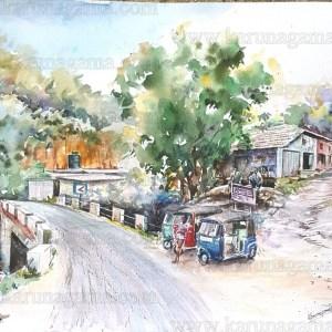Art, Art Gallery, Karunagama, Landscapes, Landscapes in Sri lanka, Online, Online Art Galley, Store, Shops, Sri Lanka, Soranathota, Badulla, Water Colour, Watercolor