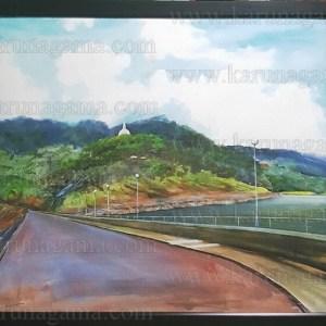 Art, Art Gallery, Ceylon, Karunagama, Kothmale reservoir., Kotmale, Landscapes, Landscapes in Sri lanka, Old Sri lanka, Online, Online Art Gallery, Kothmale dam, Kothmale bunt, Kothmale reservoir, Kothmale, Kotmele , Sceneries in Sri lanka, Sri Lanka, Trekkiing in Sri lanka