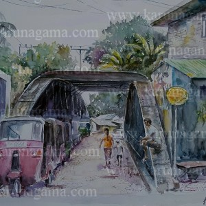 Online, Art, Art Gallery, Online Art Galley, Sri Lanka, Karunagama, Watercolor, Water Colour, Bridges, Old Bridges, Bridge Paintings, Pilimathalawa, Sri lanka paintings,