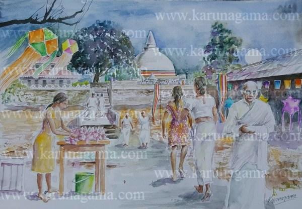 Online, Art, Art Gallery, Online Art Galley, Sri Lanka, Karunagama, Watercolor, Water Colour, Sarath Karunagama, Sri lanka paintings,