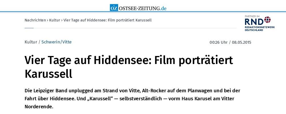 2015.05.08_Schwerin_Vitte - Vier Tage auf Hiddensee_ Film porträtiert Karussell_1