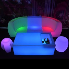 Led Table And Chairs Wood Rocking Chair Styles Remote Control Furniture Illuminated Bar Kft 12067