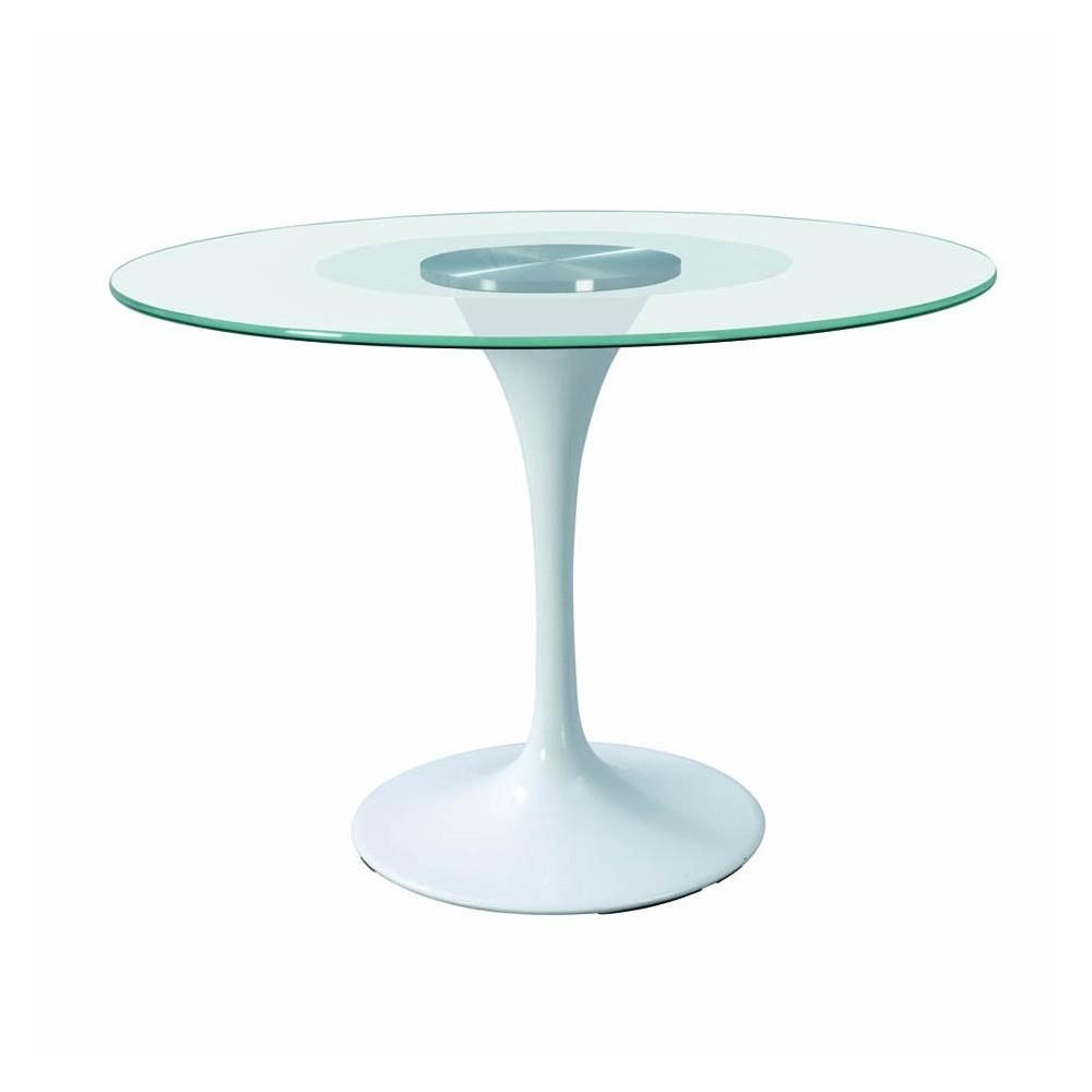 Tavolo Rotondo Vetro Acciaio.Tavolo Rotondo Vetro Idee Di Decorazione Per Interni Domestici