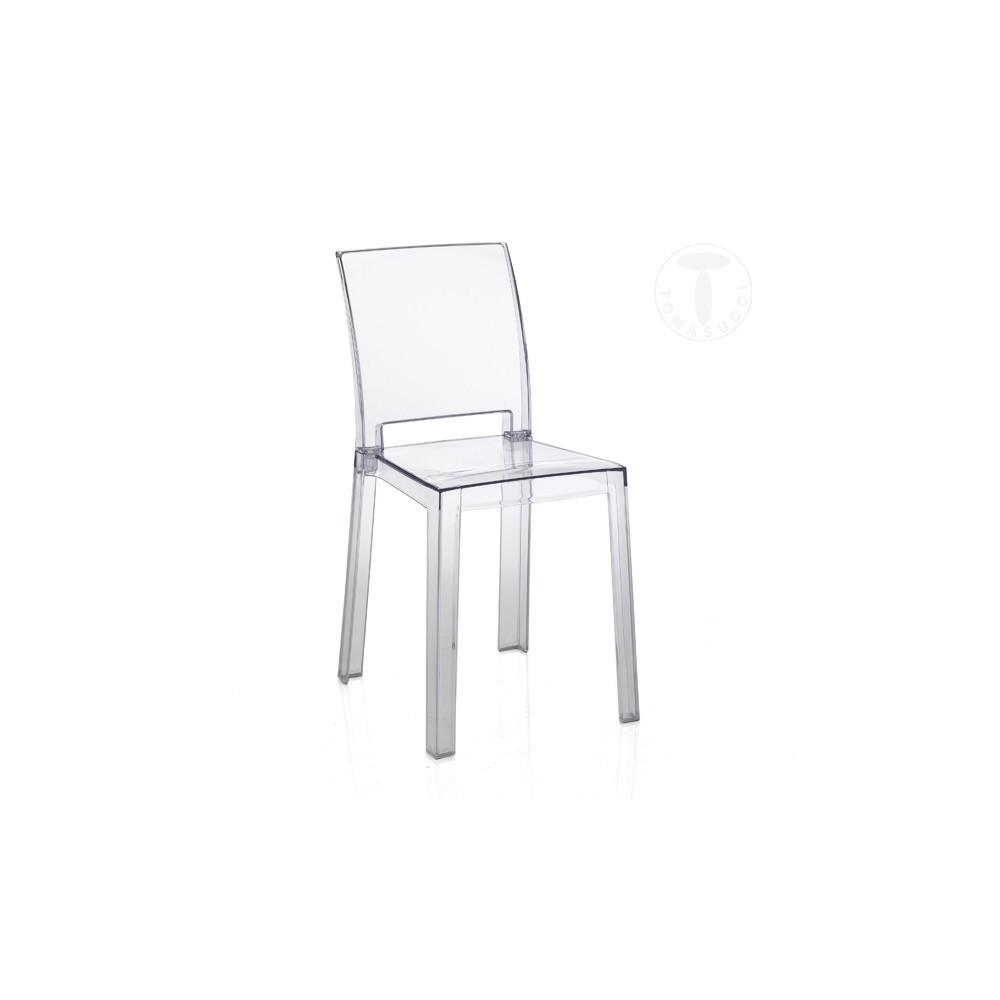 transparent polycarbonate chairs swivel chair view mia by tomasucci in suitable for set 2 sedie di policarbonato trasparente adatta per interni ed esterni